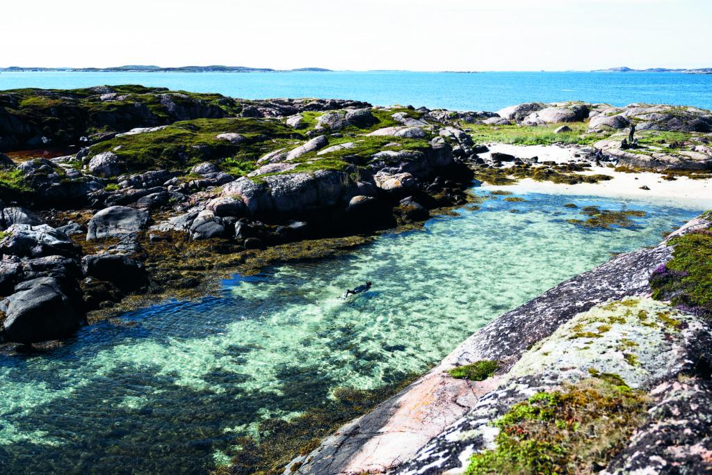 Dykking på Mausund, Frøya. Foto: Jarle Hagen