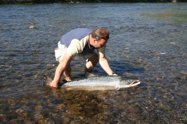 Laksefiske i Trøndelag_Orkla_Foto: Rune Krogdahl