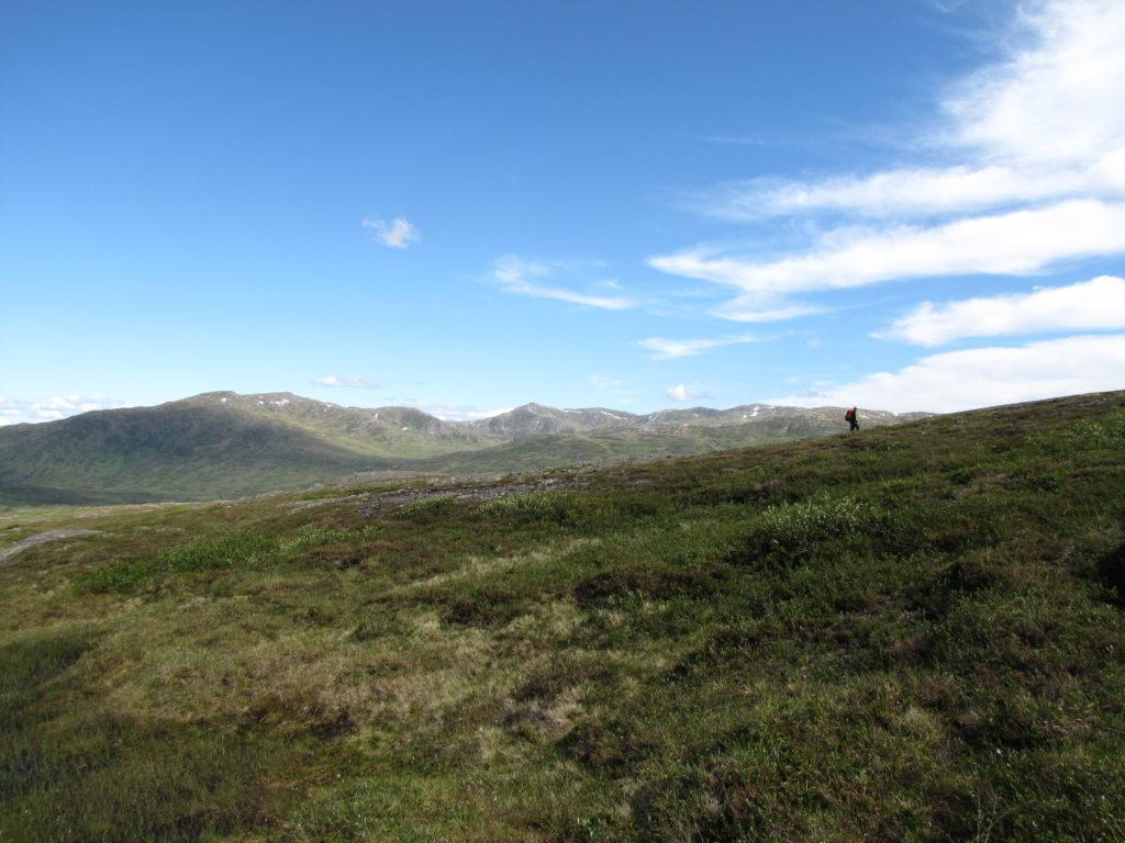 Kvernfjellvatnet i Skarvan og Roltdalen nasjonalpark. Foto: Rune Garberg