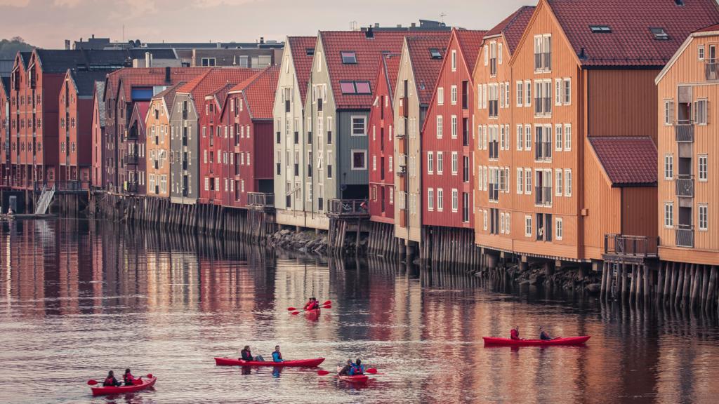 Bryggene i Trondheim. Foto: Søderholm - Steen / trondelag.com