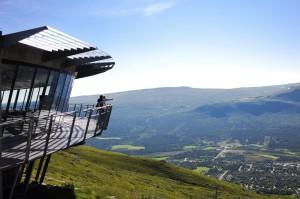 View from Toppen Restaurant in Oppdal Ski Resort, Oppdal, Trøndelag, Photo: Marius Rua