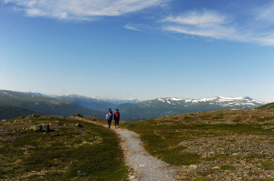 Vandring ved Oppdal i Trøndelag, Foto: Marius Rua