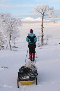 Skitur med pulk i fjellene rundt Oppdal i Trøndelag, Foto: Sigbjørn Frengen